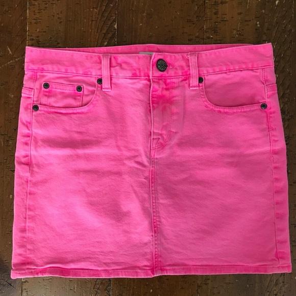 8a61d8c8fe J. Crew Dresses & Skirts - J. Crew Neon Pink Denim Skirt